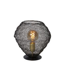 SAAR - Tafellamp - Ø 18 cm - 1xE27 - Zwart