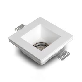 Ledl stucspot vierkant inbouwspot GU10 - GU5.3