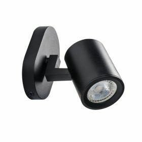Kanlux Laurin EL-10W zwart wandlamp spot GU10