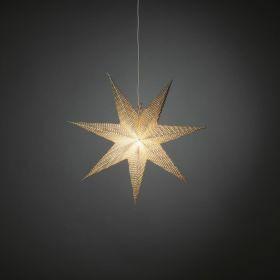 Konstsmide papieren kerstster hangende ster Silver E14