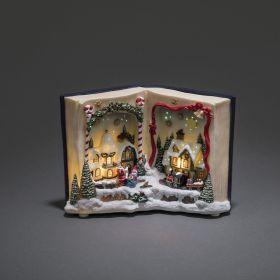 Konstsmide kerstboek kerstverlichting kerststal met 8 liedjes