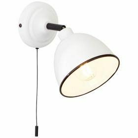 Brilliant Telio Wandlamp Bedlamp Wit aan/uit schakelaar