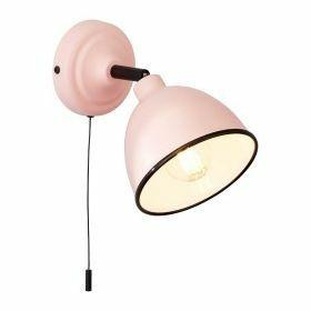 Brilliant Telio Wandlamp Bedlamp roze aan/uit schakelaar