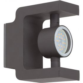 Brilliant CASTING Wandlamp 1x7W LED Antraciet IP44 G96258/63