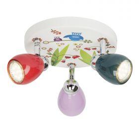 Brilliant BIRDS Plafondlamp 3xGU10 3W Warmwit Meerkleurig