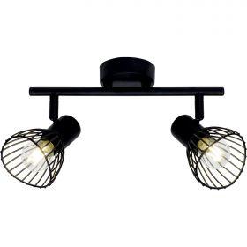 Brilliant ELHI Spotlamp 2xE14 Zwart