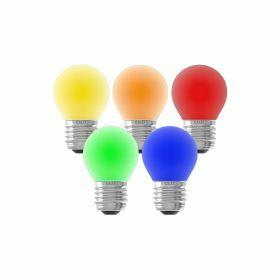 5x Calex Feestverlichting E27 kogellamp 1W Aanpasbaar