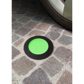 Fumagalli CECI Grondspot Zwart GX53 3W Warmwit Groene afdekking