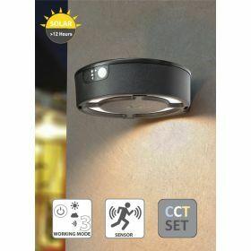 Fumagalli Fortunato wandlamp zwart Solar 12h Motion Sensor CCT 3 kleuren