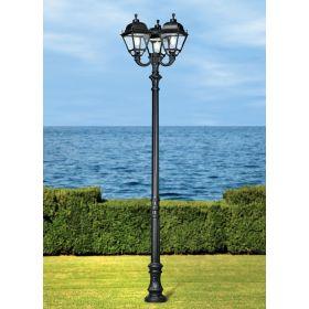 Fumagalli Simon Nebo lantaarnpaal Zwart 3xE27 30W Warmwit