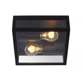 Lucide Dukan Plafondlamp 2xE27 Zwart