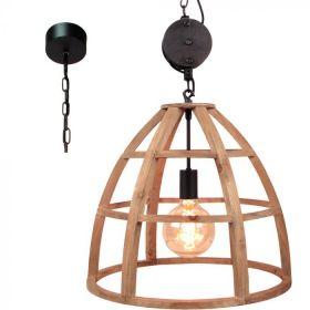 Brilliant Matrix hanglamp 99156/66 hout 47cm
