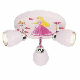 Brilliant PRINCESS Plafondlamp 3xGU10 3W Warmwit Roze