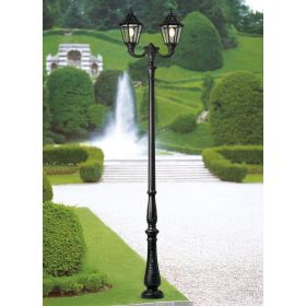 Fumagalli Simon Nebo lantaarnpaal Zwart 2xE27 30W Warmwit