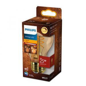 Philips Classic E27 Peerlamp 4W Flame Dimbaar