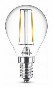Philips Classic E14 kogellamp 2W Warmwit