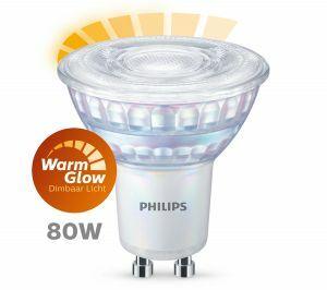 Philips WarmGlow GU10 spot 6.2W Warmwit 36° Dimbaar